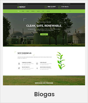Biogas WordPress theme