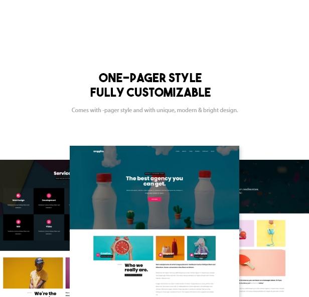 Anggita - One Page Portfolio Theme - 1