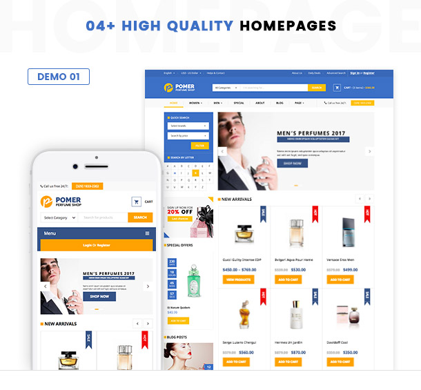 VG Pomer - Perfume Store WooCommerce WordPress Theme - 2