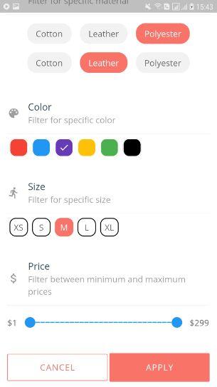 Relin - E-Commerce-App-Vorlage für Flattern - 24