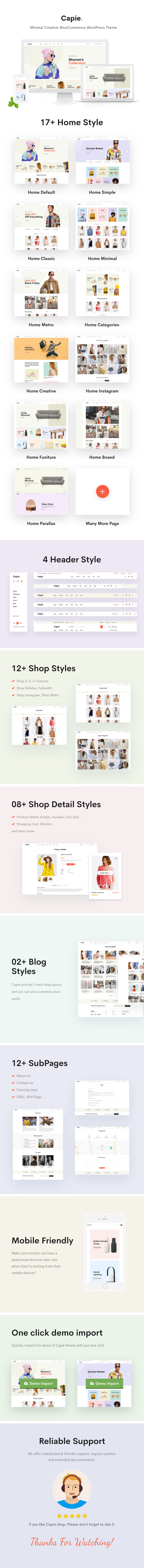 Capie - Minimal Creative WooCommerce WordPress Theme - 4