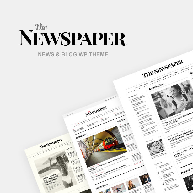 example of a newspaper layout