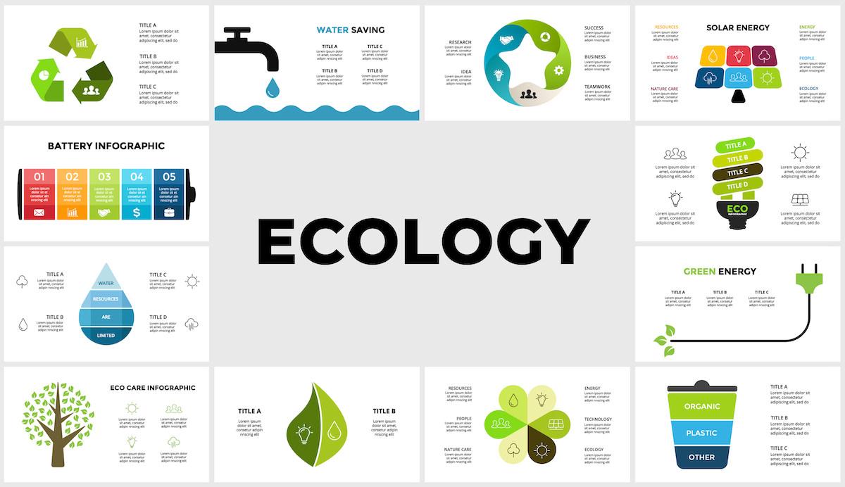 Huge Infographics Bundle! Lifetime Updates! PowerPoint, Photoshop, Illustrator. - 196