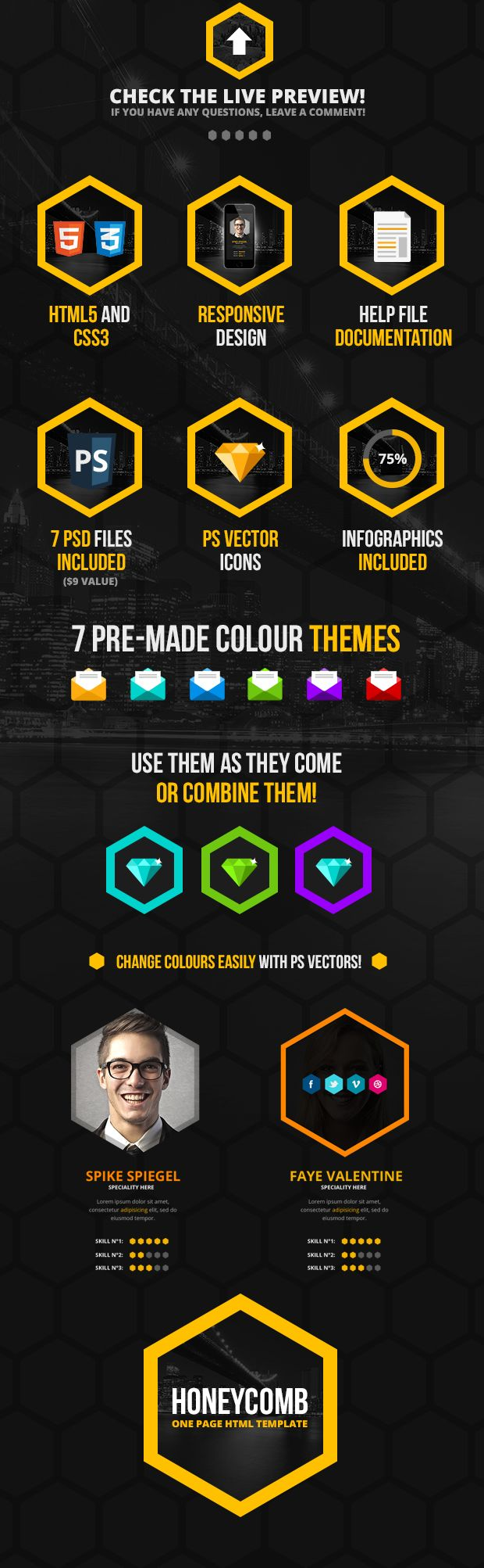 Honeycomb - Responsive One Page HTML5 Template - 7
