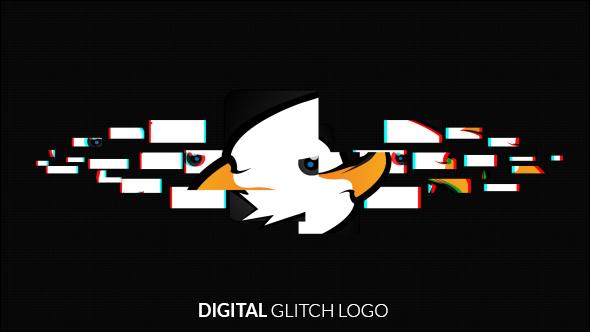 Grunge Glitch Logo - 8