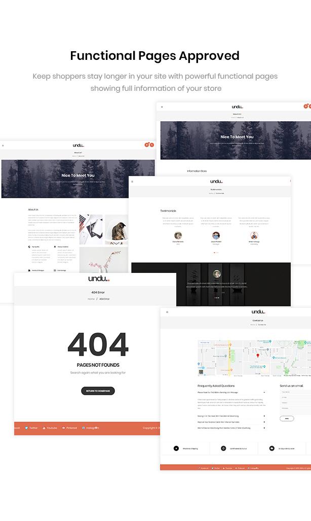 Well Functional Pages Undu - Furniture & Fashion WooCommerce WordPress Theme