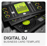 Premium Digital DJ Business Card PSD template