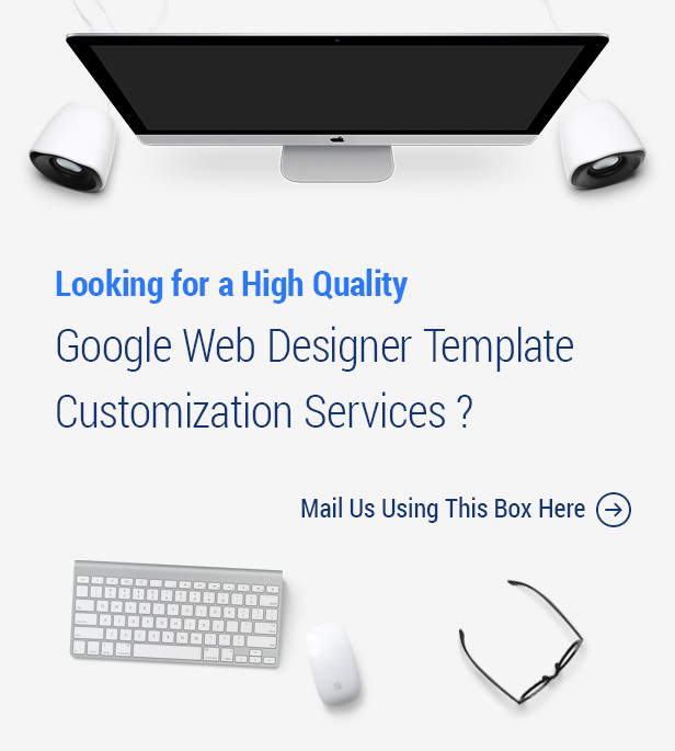 Perofessional Google Web Designer Template Customization Services