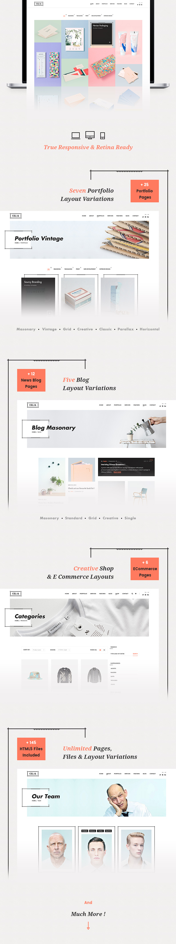 Celia - Innovative and Inspiring Portfolio HTML5 Template for Modern Agencies and Freelancers - 3