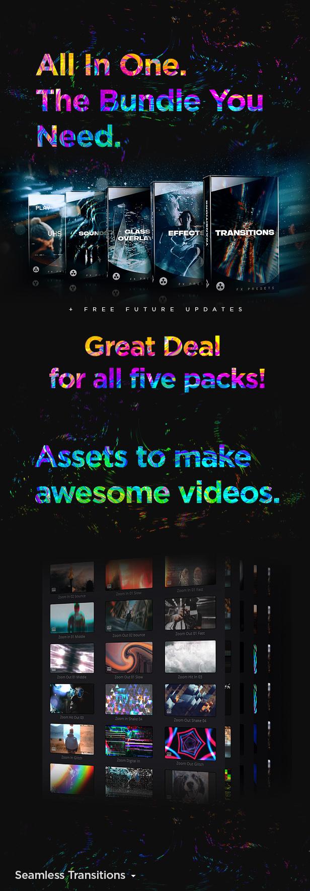 LUT预设,达芬奇模板-视频编辑剪辑摄像机无缝转场光效叠加VHS特效元素预设合集 ,效果图达芬奇调色