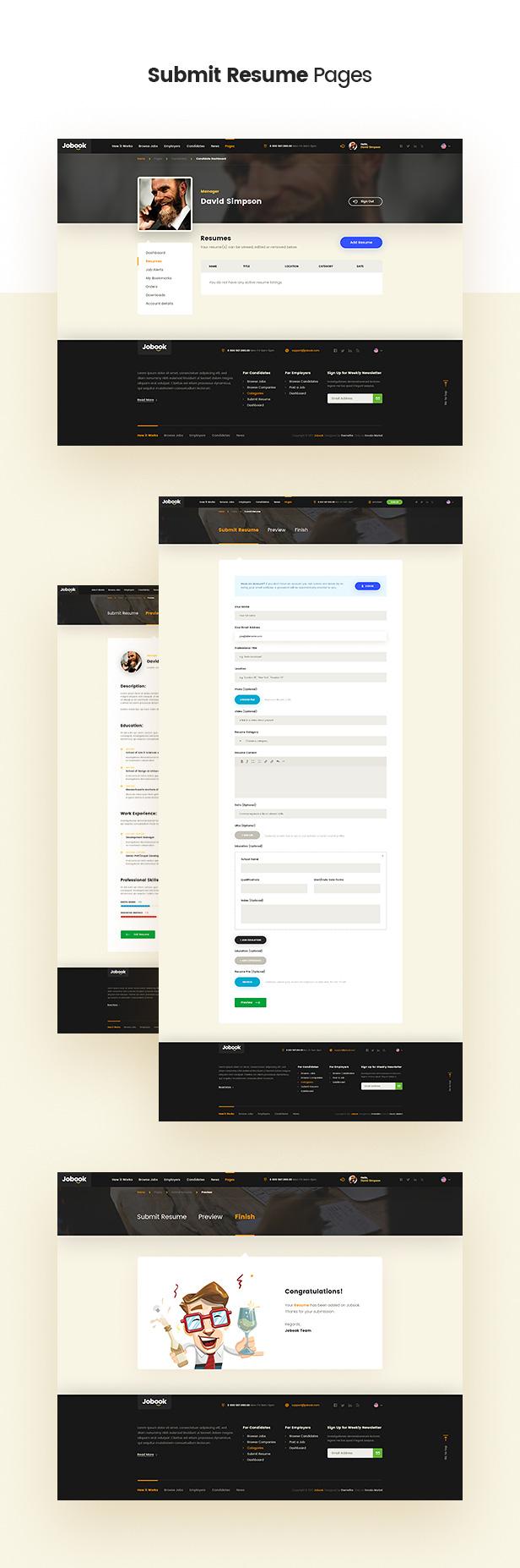 Jobook - A Unique Job Board Website PSD Template - 7