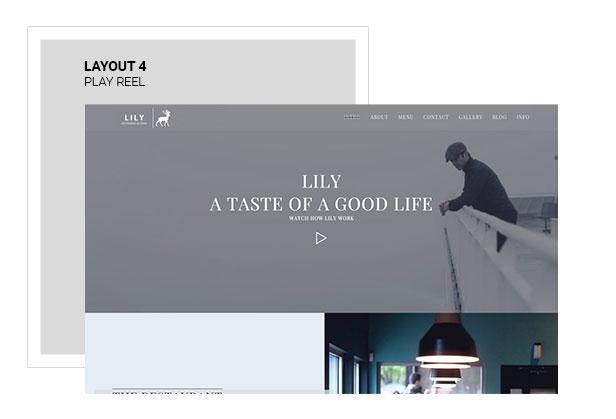Lily | One Page Restaurant WordPress Theme - 4