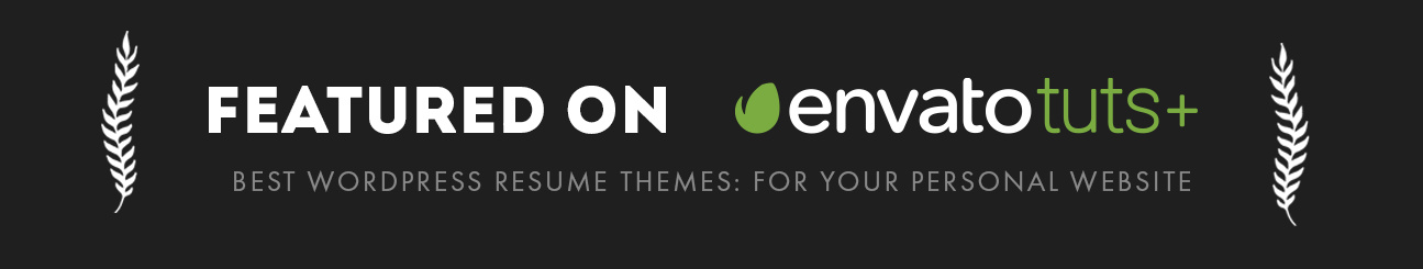 theme theme is featured on envato tuts plus as one of the best wordpress resume theme