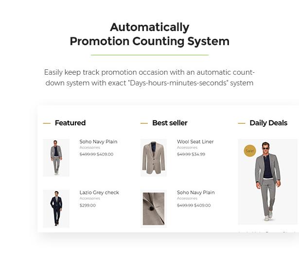 Counting System Limonta - Modern Fashion WooCommerce WordPress Theme