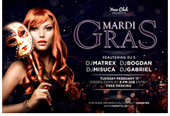 Mardi Gras Party Flyer - 7