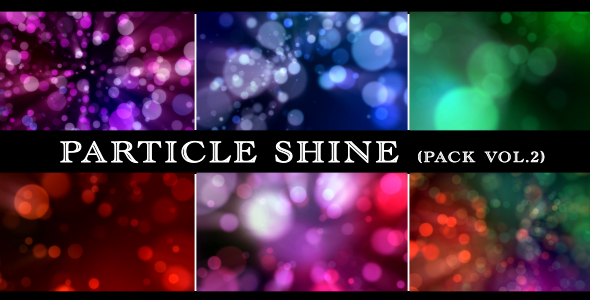 Colorful Particle (6 Different Backgrounds Loop) - 2
