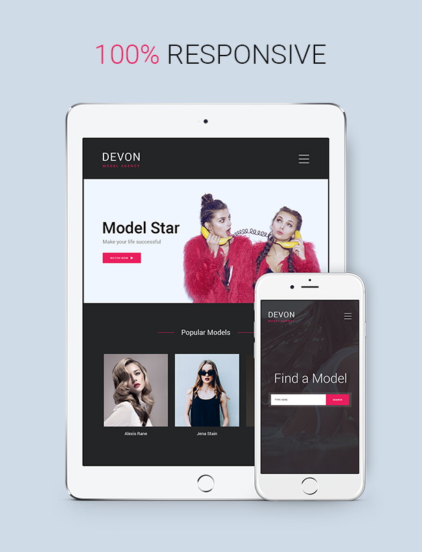 Devon - Model Agency Directory HTML Theme