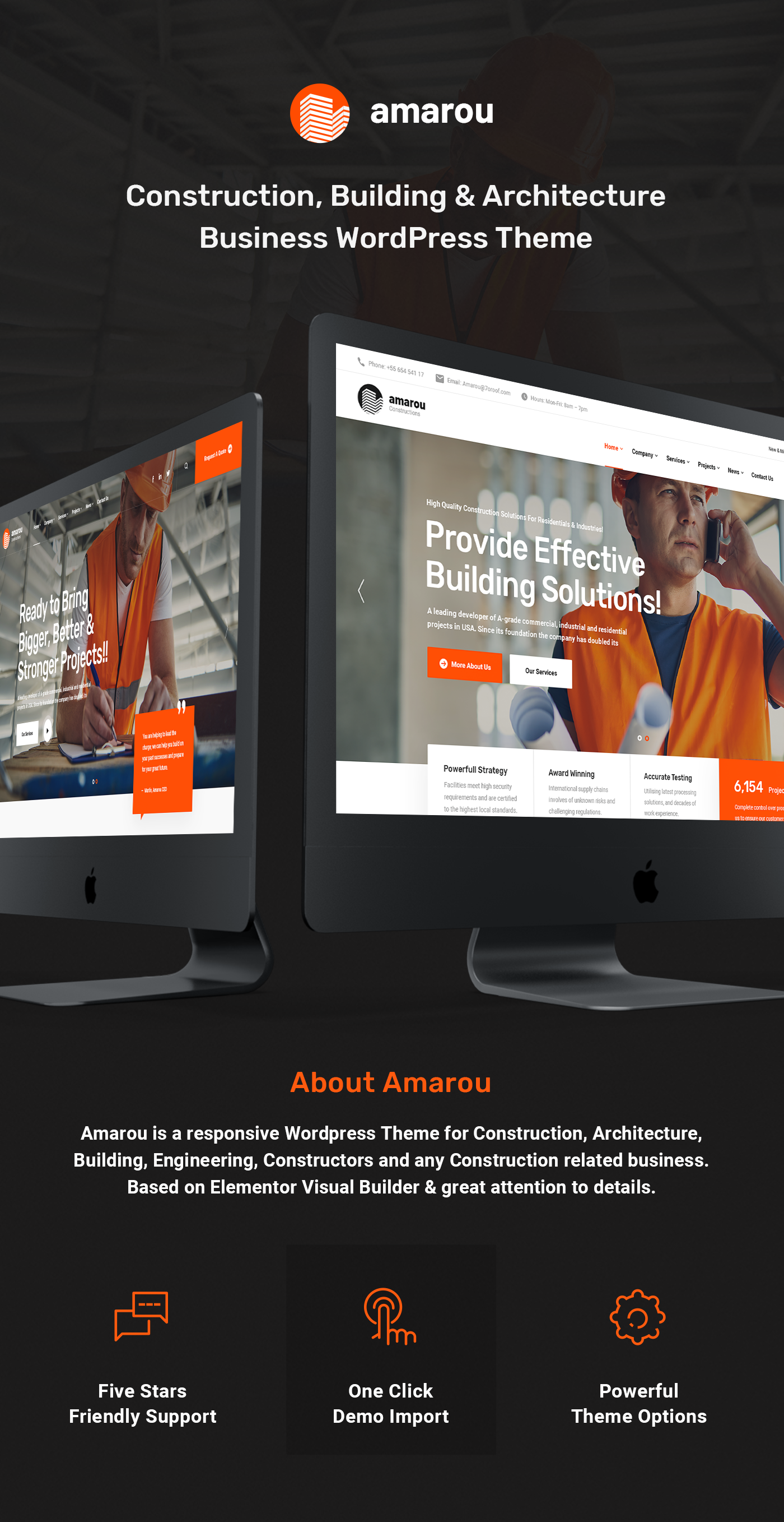 Amarou - Construction & Architecture WordPress Theme - 1