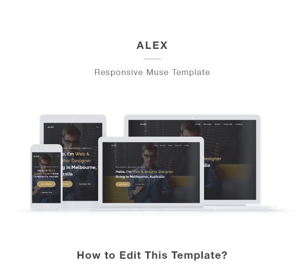 ALEX - Creative Portfolio Muse Template - 1