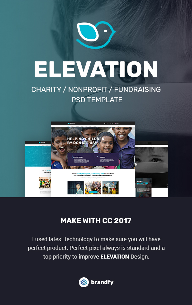 ELEVATION - Charity / Nonprofit / Fundraising PSD Template - 1