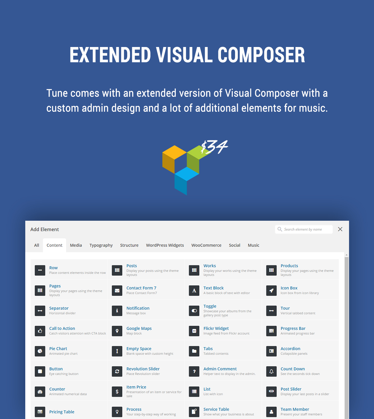 Extended Visual Composer