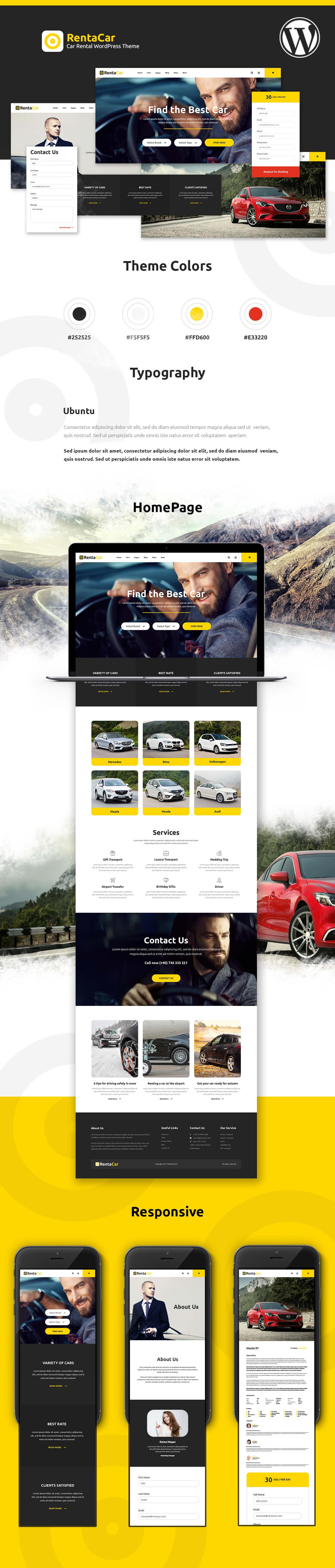 Car Rental Websites >> Rentacar Car Rental Listing Wordpress Theme