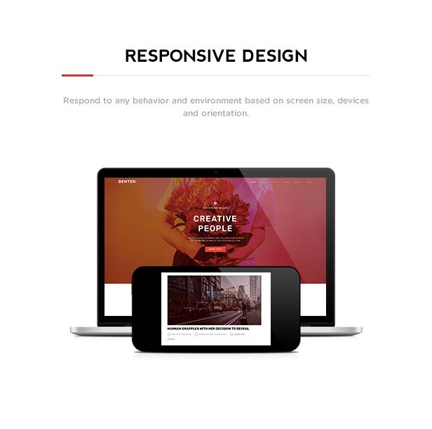 Benten - Responsive One Page Portfolio Theme - 2