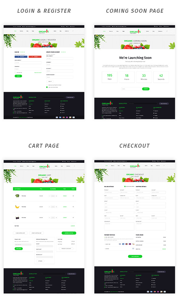 Organic Foods and Fruits PSD Template - 5