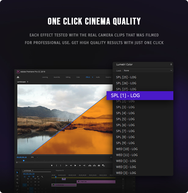 700 Film Looks - LUT Color Preset Pack - 3