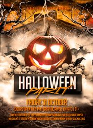 Design Cloud: Halloween Party Flyer Template