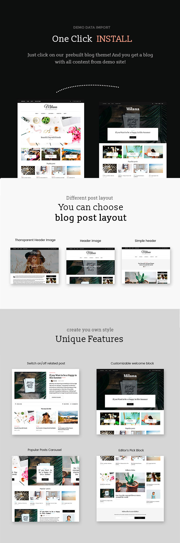 Milana - Personal & Magazine WordPress Responsive Fast Blog Theme by ...
