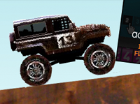 Off-Road Rally Car Game with Banners