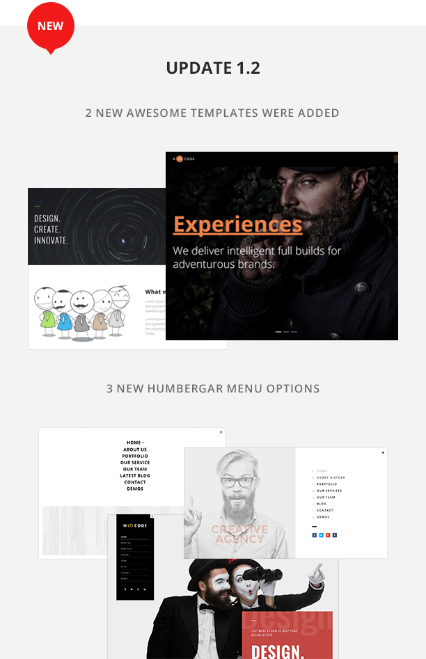 H-Code Multipurpose OnePage & Multi Page Template - 2