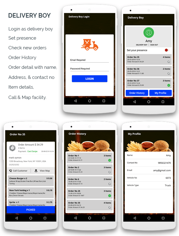 Restaurante KING BURGER com ingredientes e entregador - aplicativo completo para Android - 2