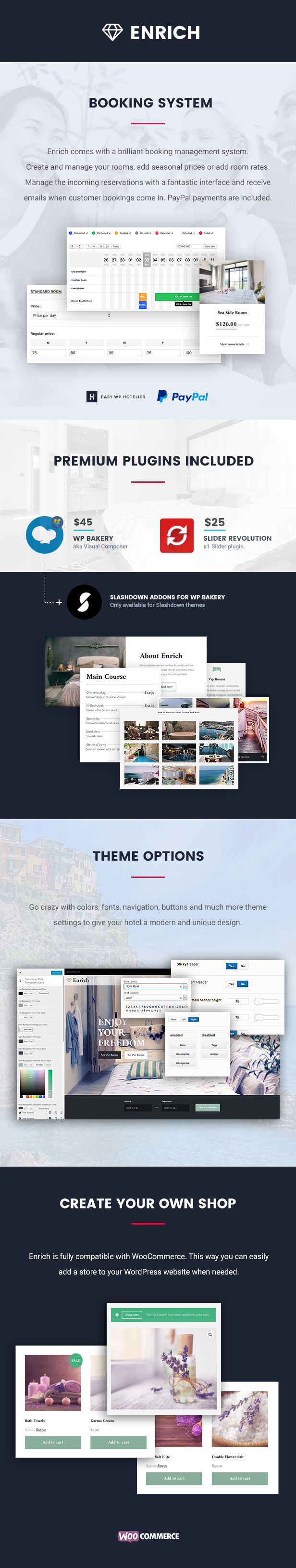 Enrich – Hotel Booking WordPress Theme