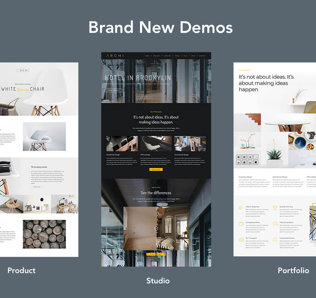Archi - Interior Design and Multipurpose Website Template by ...