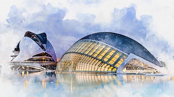 The Architecture Watercolor