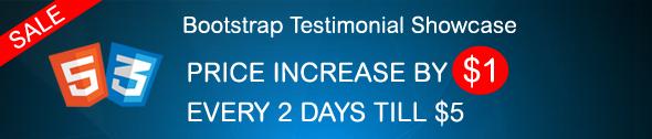 Bootstrap Testimonial SALE