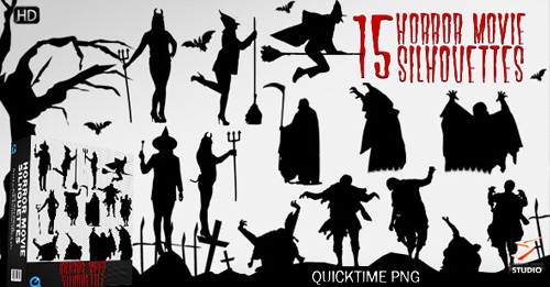 Horror Movie Silhouettes
