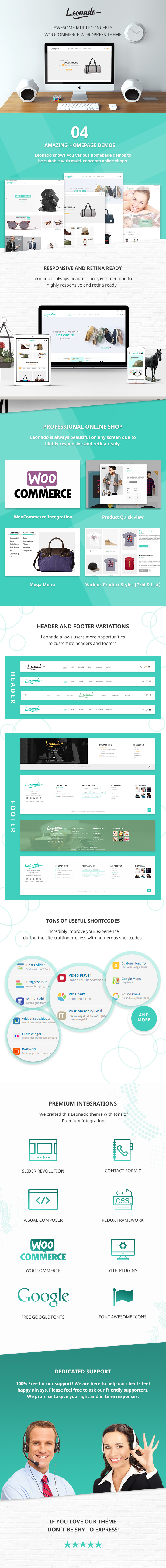 Leonado - Multi-Concepts WooCommerce WordPress Theme - 1