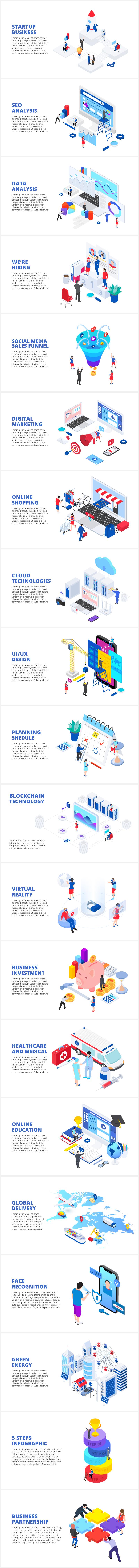 Multipurpose Infographics PowerPoint Templates v.5.0 - 121