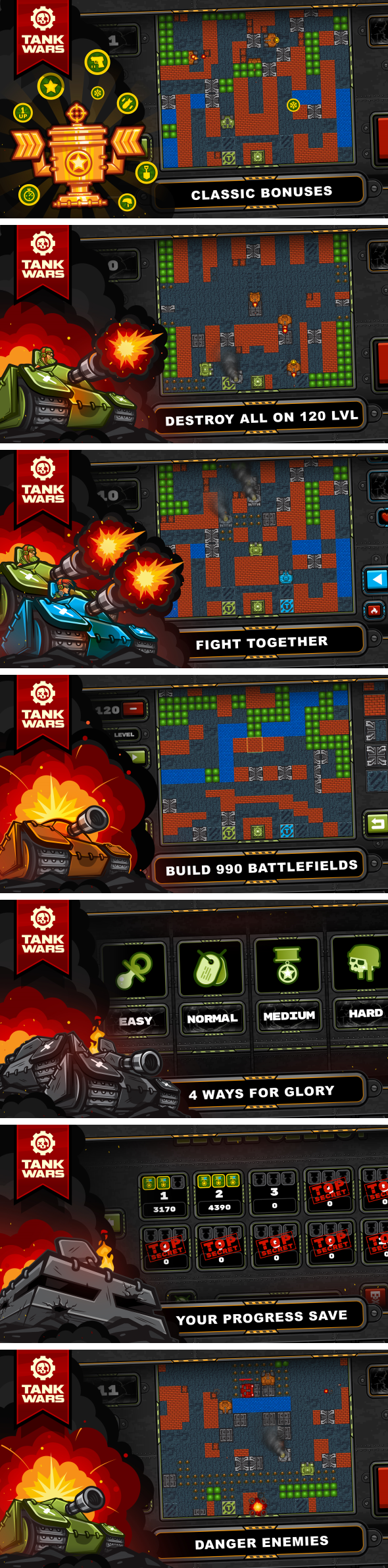 Tank Wars - HTML5 Game 120 Levels + Level Constructor + Mobile! (Construct 3 | Construct 2 | Capx) - 3