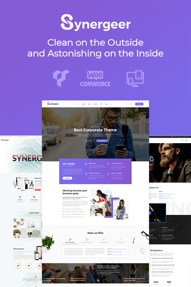 Synergeer - Corporate Creative WordPress Theme - 1
