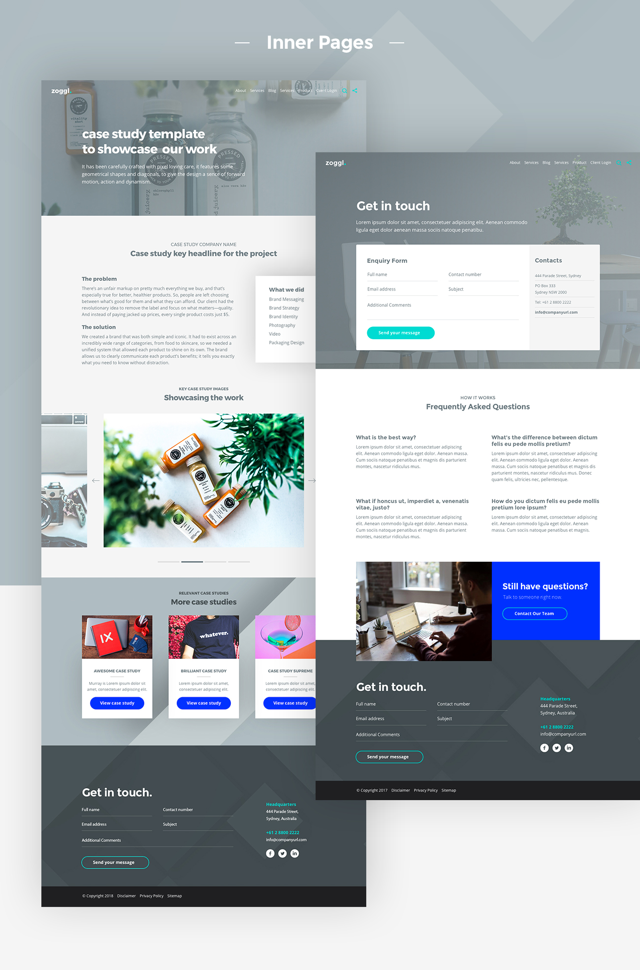 Zoggl - Multi-purpose Website PSD - 3