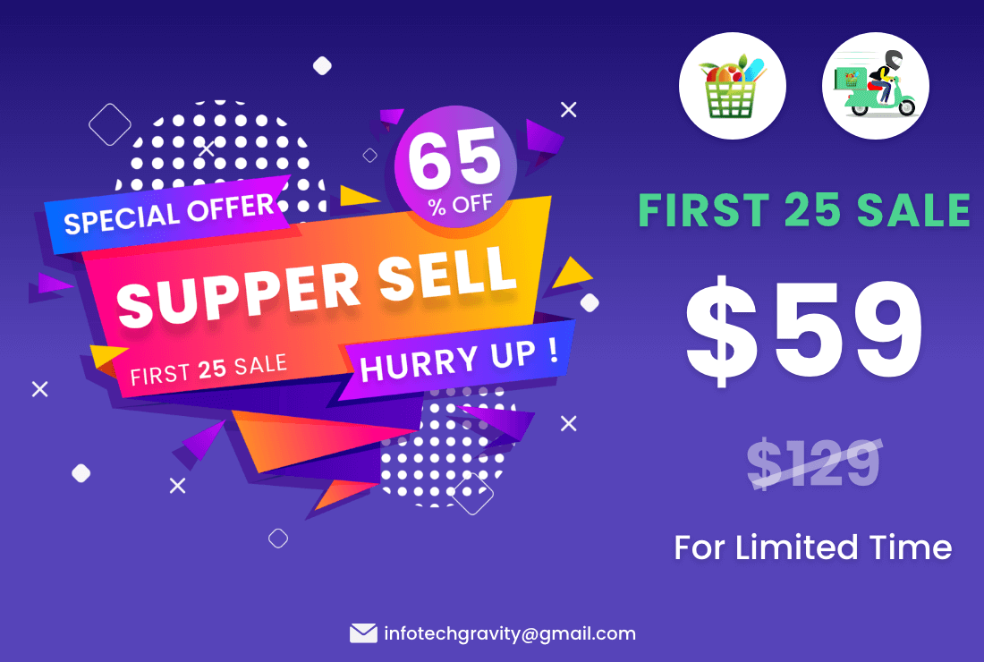 Single Grocery, Food, Pharmacy Store Website & Delivery Boy Application With Admin Panel - 1
