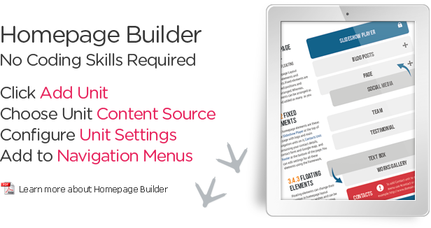Learn more about Homepage Builder