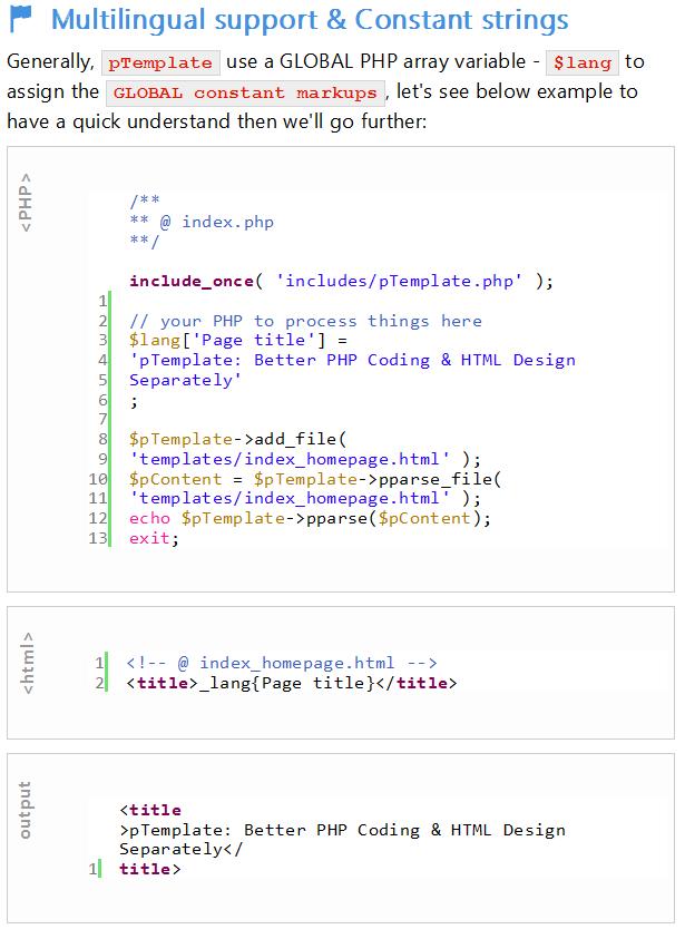 pTemplate : Ayrı Ayrı Daha İyi PHP Kodu-HTML Tasarımı - 16