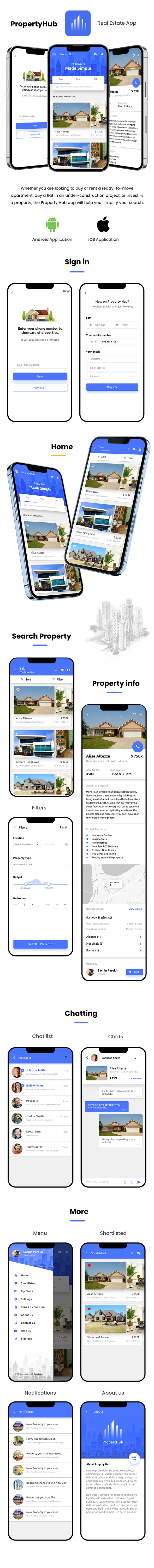 Real Estate Android App Template+ Real Estate iOS App Template | PropertyHub(HTML+CSS files IONIC 3) - 1