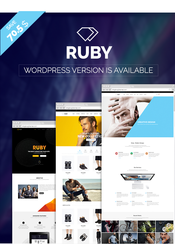 RUBY –  Business Multipurpose PSD Template - 3