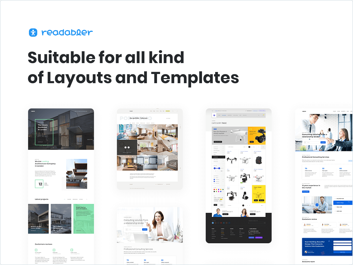 WordPress Accessibility Plugin Suitable for all kind of Layouts and Templates